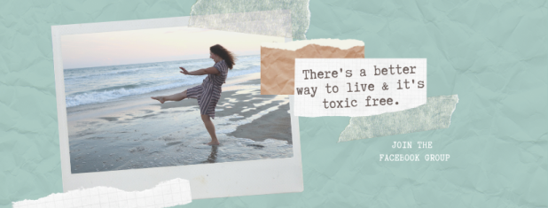Teal Polaroid Wellness Influencer Facebook Cover
